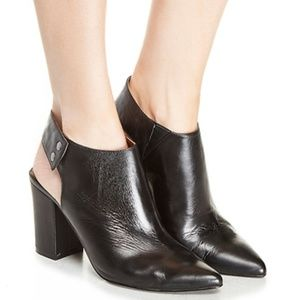 Chinese Laundry Pointy Toe Block Heel Leather Boot